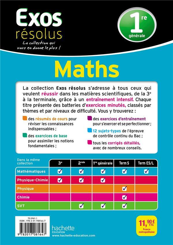 Exos résolus ; spécialité maths ; 1re générale