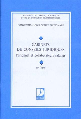 Cabinets De Conseil Juridique ; Personnel Et Collaborateurs Salaries