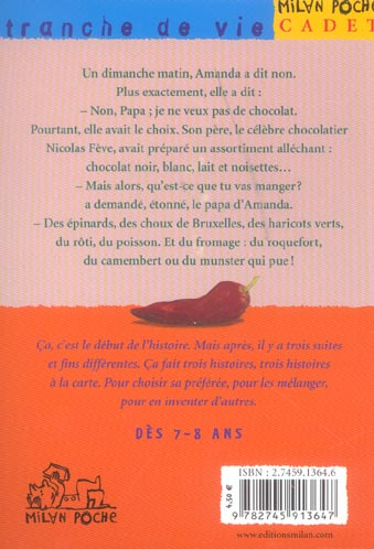 HISTOIRE A LA CARTE T.3 ; AMANDA CHOCOLAT
