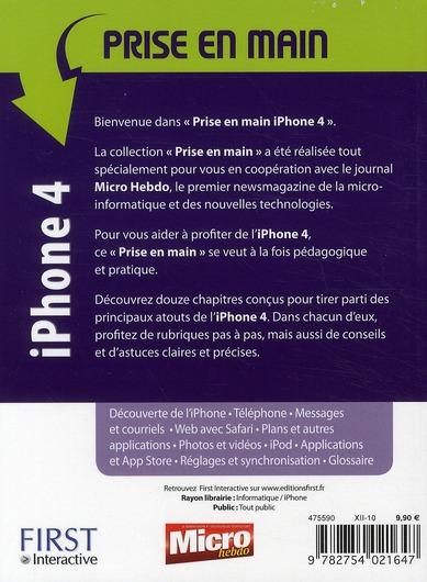 Prise en main iPhone 4