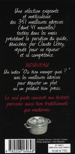 Le petit Lebey des bistrots parisiens (édition 2008)