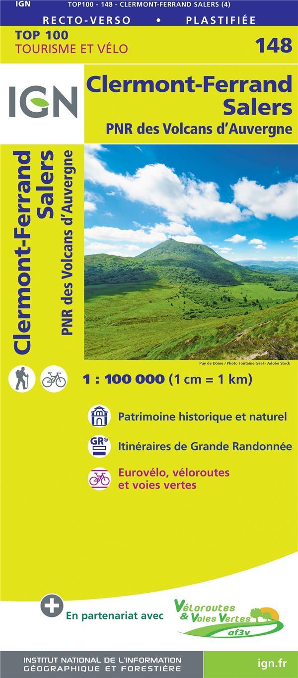 TOP100148 ; Clermont-Ferrand, Salers, PNR des volcans d'Auvergne (4e édition)