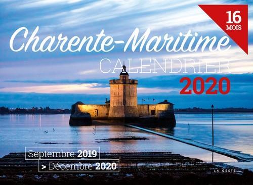 Calendrier 2020 ; Charente-Maritime