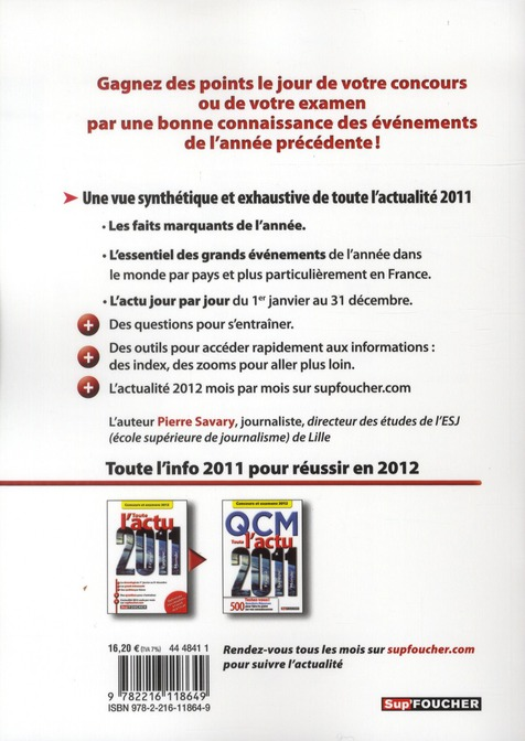 toute l'actu 2011 ; concours et examens 2012
