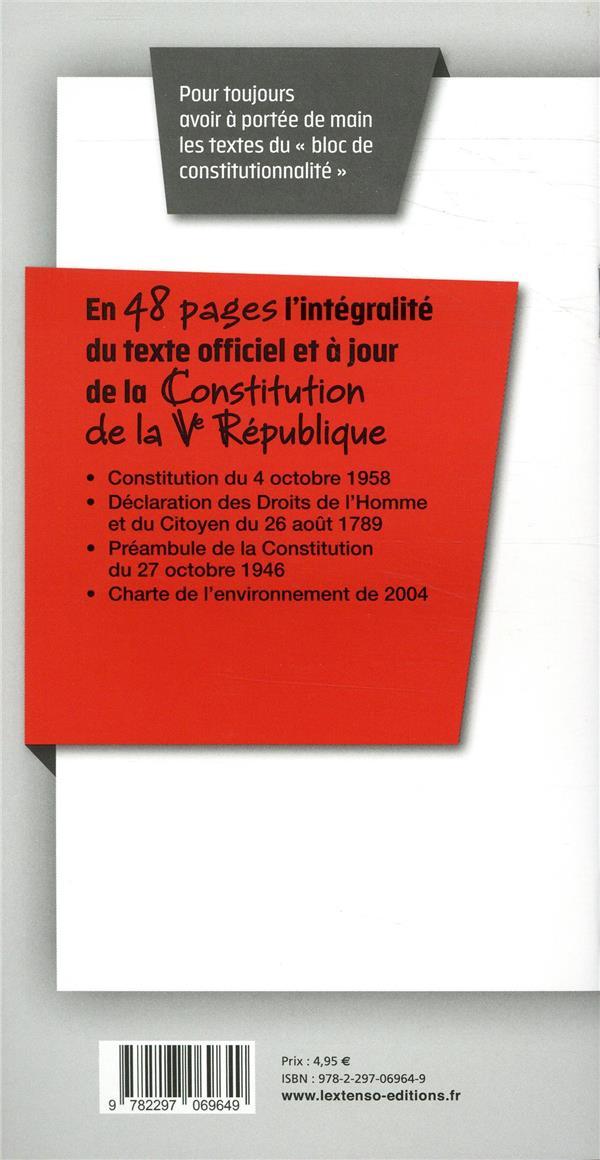 Constitution de la Ve République (édition 2018/2019)