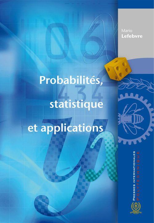 Probabilités statistique et applications