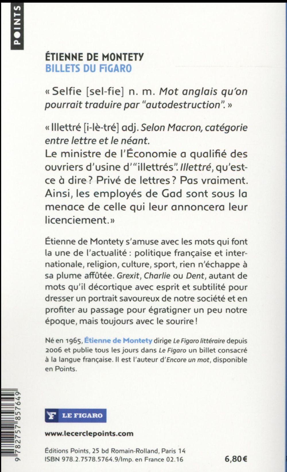 Billets du Figaro ; l'actualité au fil des mots