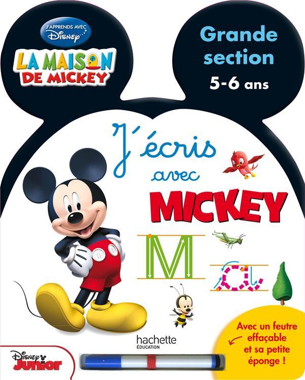 J'écris avec Mickey ; grande section ; livre-ardoise ; 5/6 ans