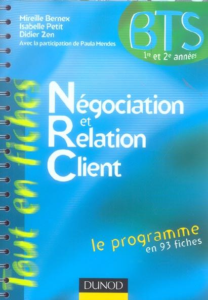 NEGOCIATION ET RELATION CLIENT