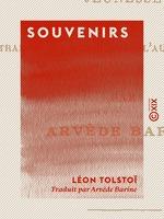 Vente Livre Numérique : Souvenirs  - Léon Tolstoï