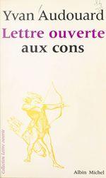 Vente  Lettre ouverte aux cons  - Yvan Audouard