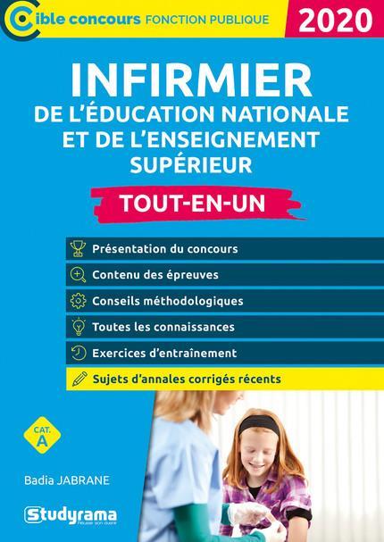Infirmier de l'éducation nationale et de l'enseignement supérieur ; catégorie A ; tout-en-un (édition 2020)