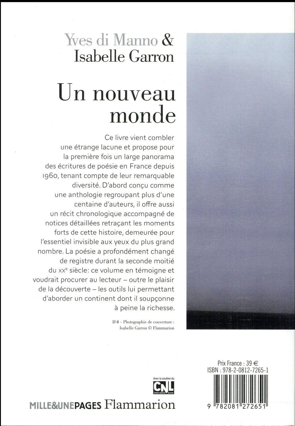 un nouveau monde ; poésies en France, 1960-2010
