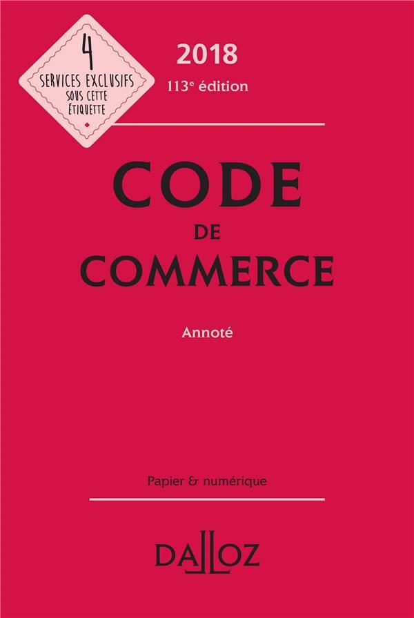 Code de commerce annoté (édition 2018)