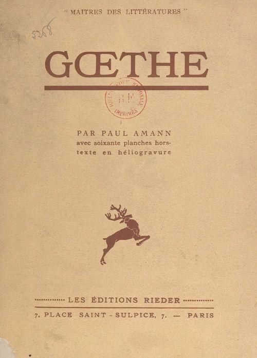 Goethe  - Paul Amann