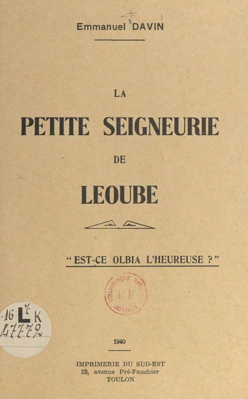 La petite seigneurie de Léoube