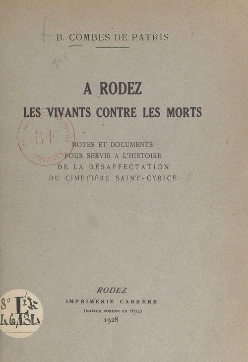 À Rodez, les vivants contre les morts