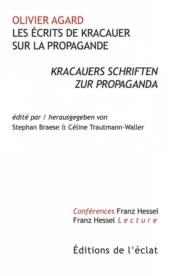 Les ecrits de kracauer sur la propagande - kracauers schrift