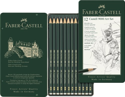 Crayon graphite Castell 9000, set