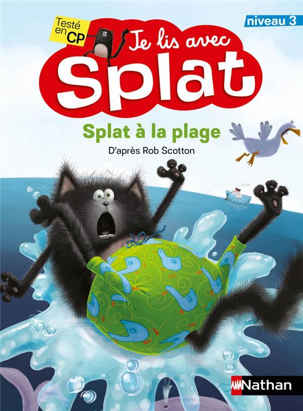 je lis avec Splat ; Splat à la plage ; niveau 3