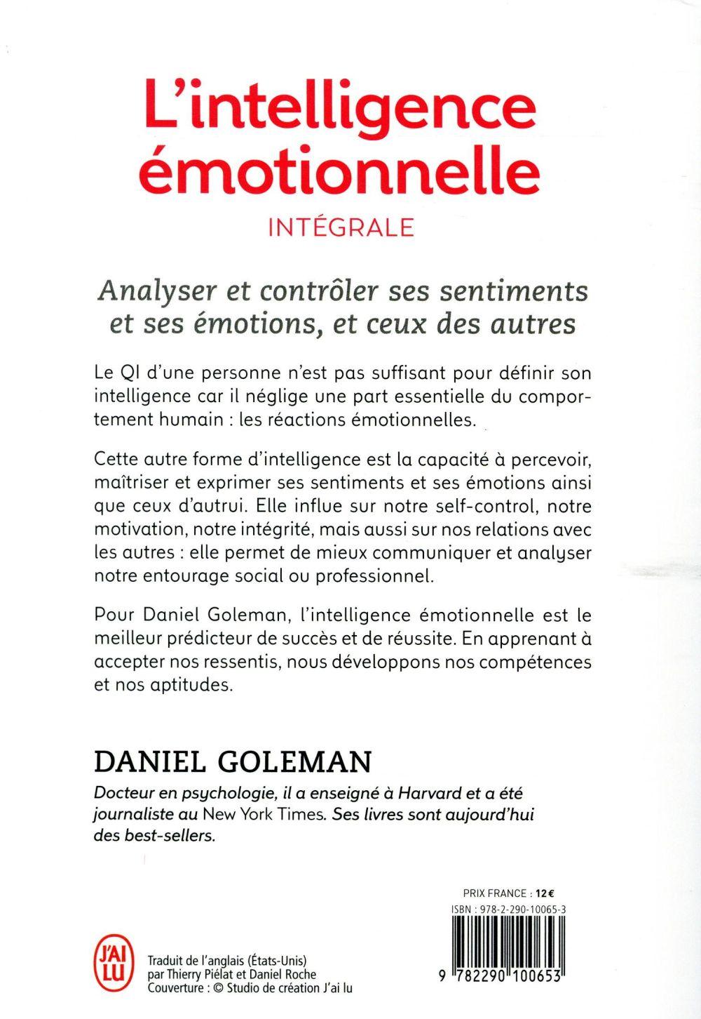 L'intelligence émotionnelle ; intégrale