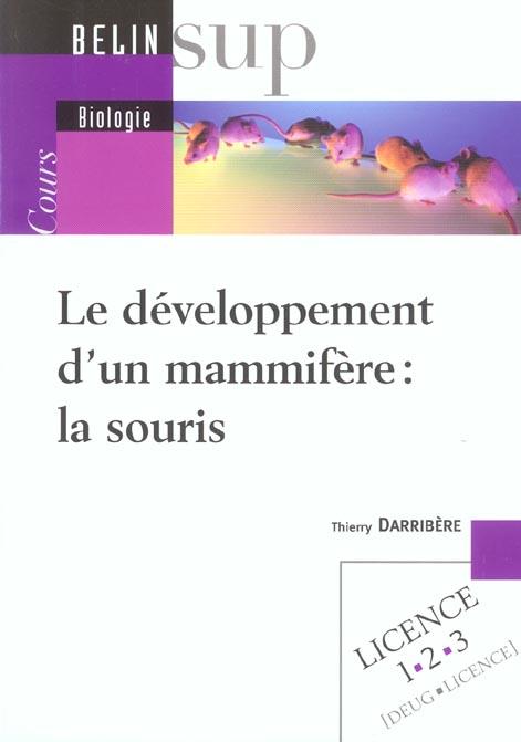 Developpement d'un mammifère : la souris