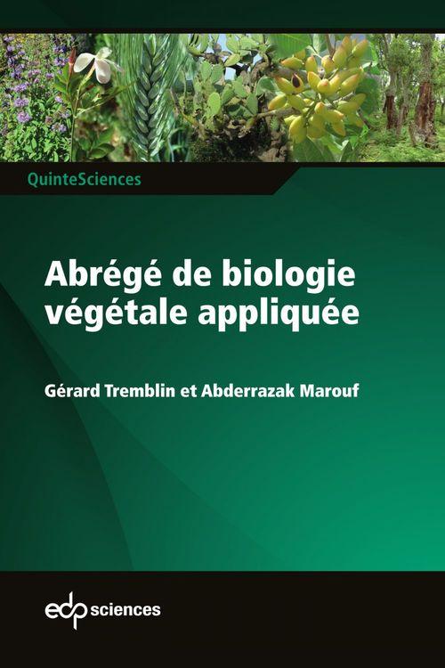 abrégé de biologie végétale appliquée