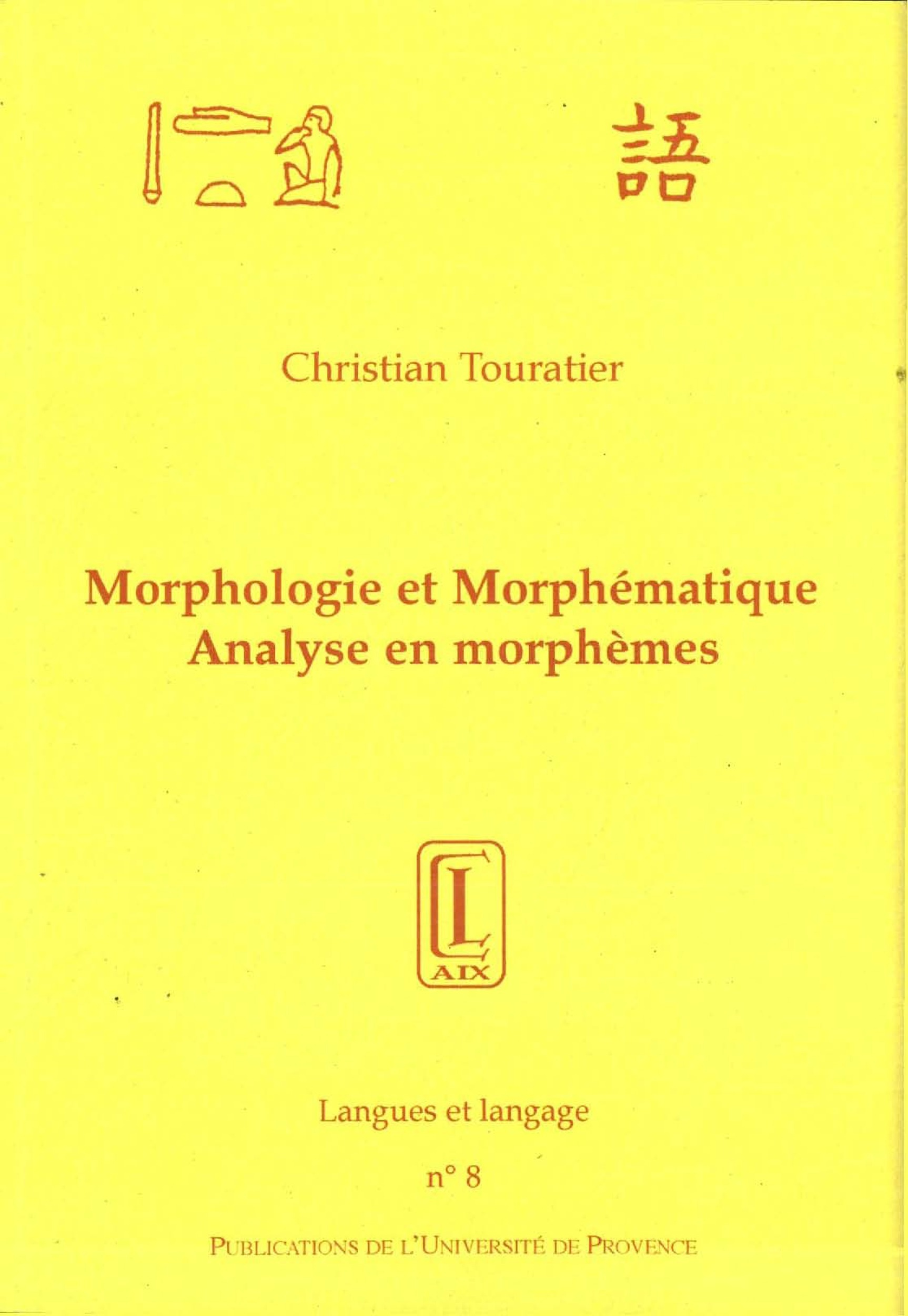 Morphologie et morphematique.
