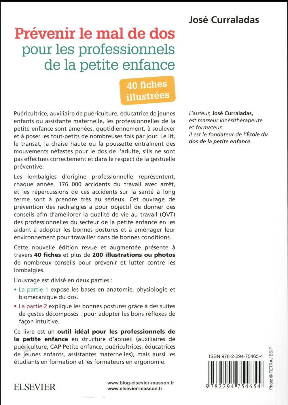 40 fiches illustrées prévenir le mal de dos (2e édition)