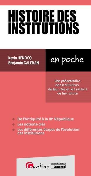 Histoire des institutions (2e édition)