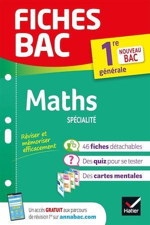Fiches bac ; maths ; 1re, spécialité