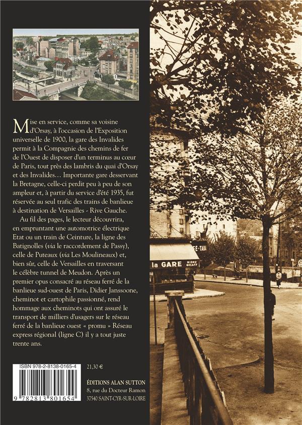 Paris gare des Invalides ;  lignes de la banlieue ouest