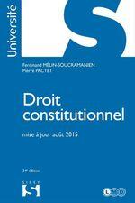 Vente Livre Numérique : Droit constitutionnel  - Pierre Pactet - Ferdinand Mélin-Soucramanien