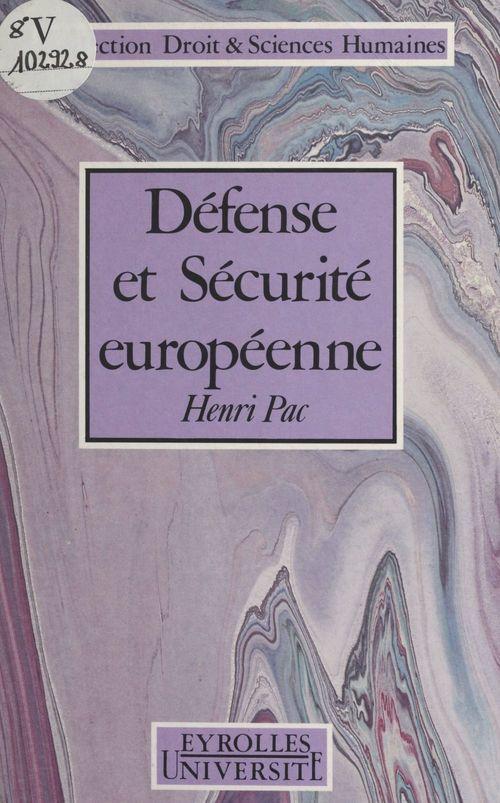 Défense et sécurité européenne