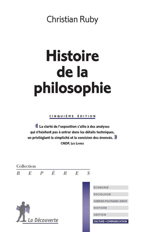 Histoire de la philosophie (5e édition)