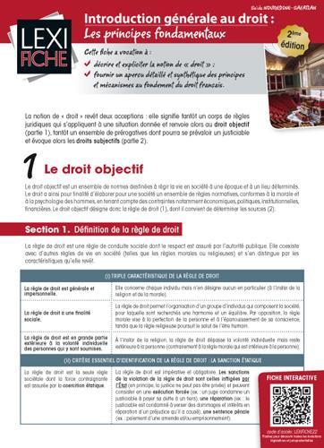Introduction Generale Au Droit ; Les Principes Fondamentaux (2e Edition)