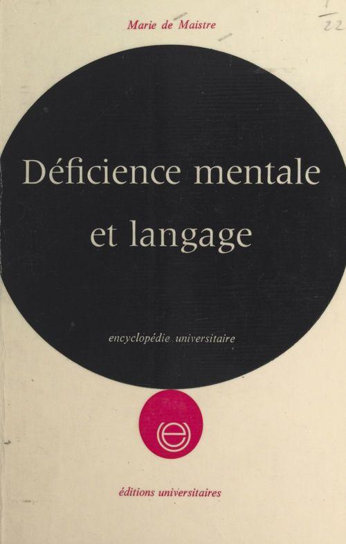 Déficience mentale et langage