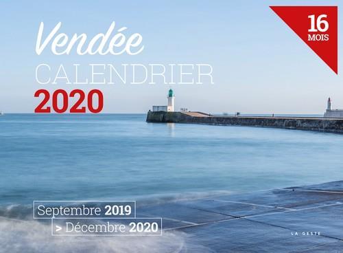 Calendrier 2020 ; Vendée