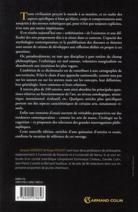 Dictionnaire d'esthétique et de philosophie de l'art (2e édition)
