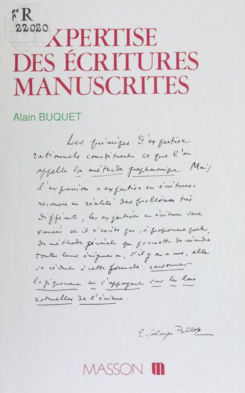 L'expertise des ecritures manuscrites