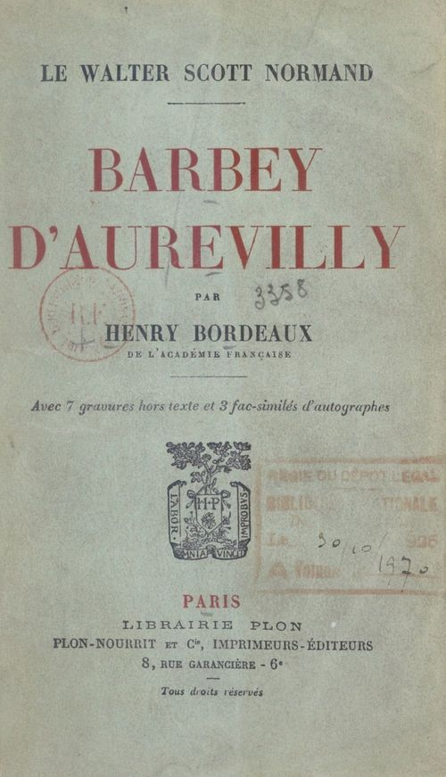 Barbey d'Aurevilly, le Walter Scott normand