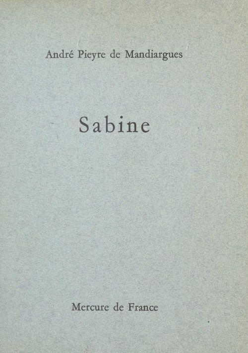 Sabine  - André Pieyre de Mandiargues