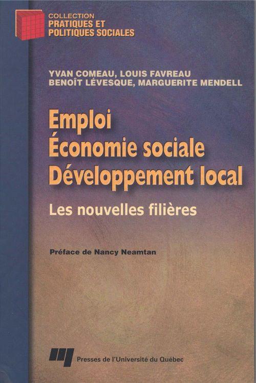 Emploi, économie sociale et développement local ; les nouvelles filières