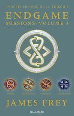 Vente EBooks : Endgame : Missions (volume 3). Shang, Cahokienne, Olmèque, Aksoumite  - James Frey - Nils Johnson-Shelton