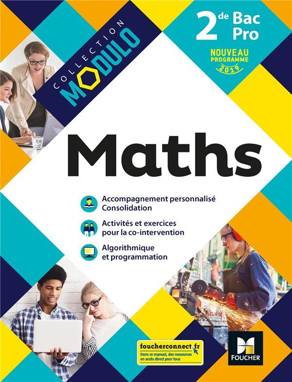 Modulo ; mathématiques ; 2de bac pro ; manuel de l'élève (édition 2019)
