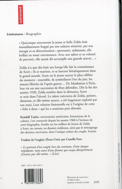 Zelda et scott fitzgerald - les annees vingt jusqu'a la folie