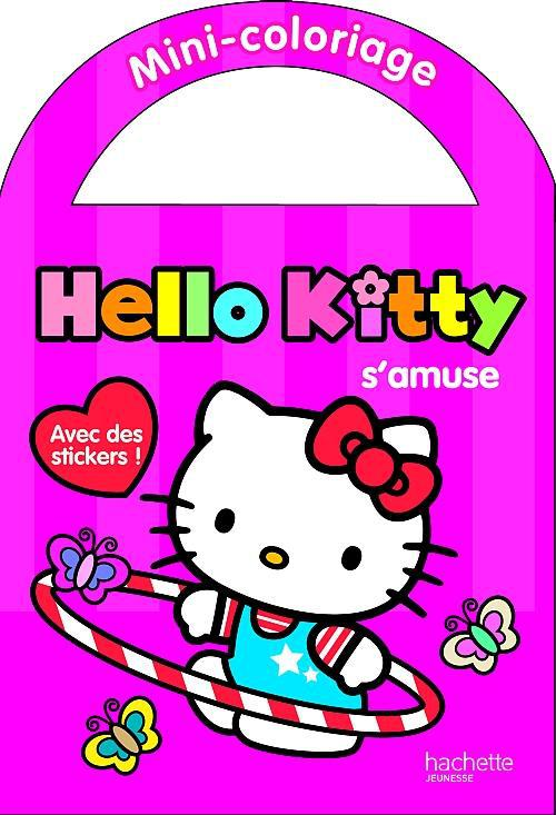 Hello Kitty s'amuse ; mini-coloriage