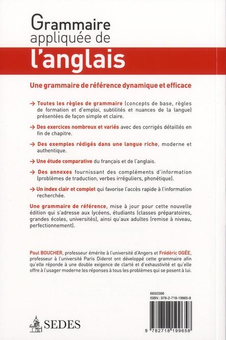 Grammaire appliquée de l'anglais ; avec exercices corrigés (3e édition)