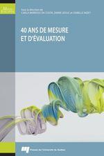 40 ans de mesure et d'évaluation  - Isabelle Nizet - Diane Leduc - Carla Barroso da Costa