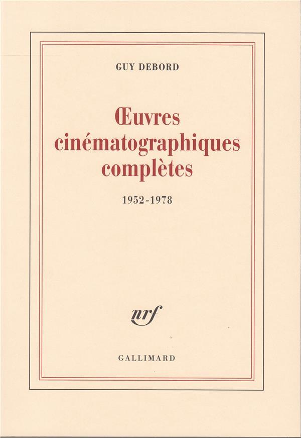 Oeuvres cinématographiques complètes 1952-1978